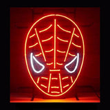 Red Spiderman Neon Bulbs Sign 19x15 -  - TheLedHeroes