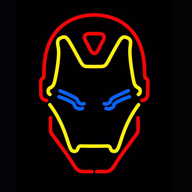 Iron Man Neon Bulbs Sign 16x24 -  - TheLedHeroes