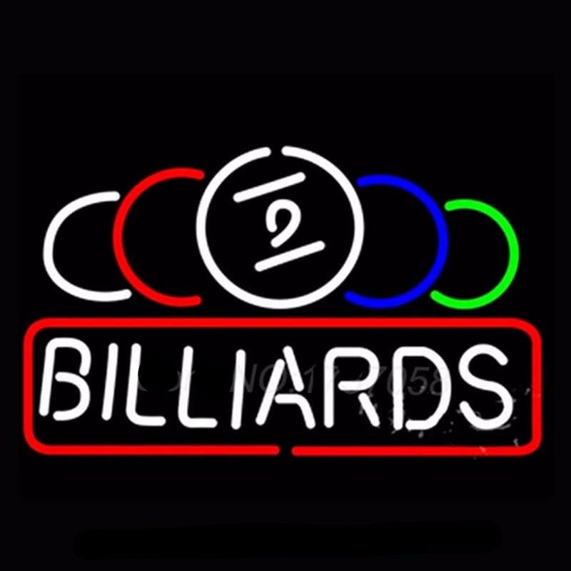 Ball Billiard Pool Neon Bulbs Sign 24x15 -  - TheLedHeroes