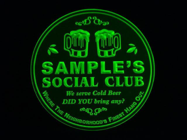 Personalized Name Custom Social Club Bar Beer 3D Coasters X10 Pcs