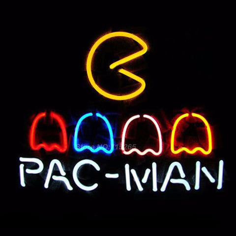 Pac-Man Neon Bulbs Sign 17x14