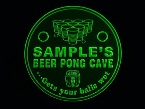 Personalized Name Custom Beer Pong Man Cave Bar Beer 3D Coasters X10 Pcs -  - TheLedHeroes