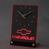 Chevrolet 3D LED Table Desk Clock -  - TheLedHeroes