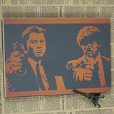 Vintage Pulp Fiction Wall Decor - Coffee - TheLedHeroes