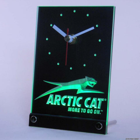 Arctic Cat Snowmobiles Table Desk 3D LED Clock -  - TheLedHeroes