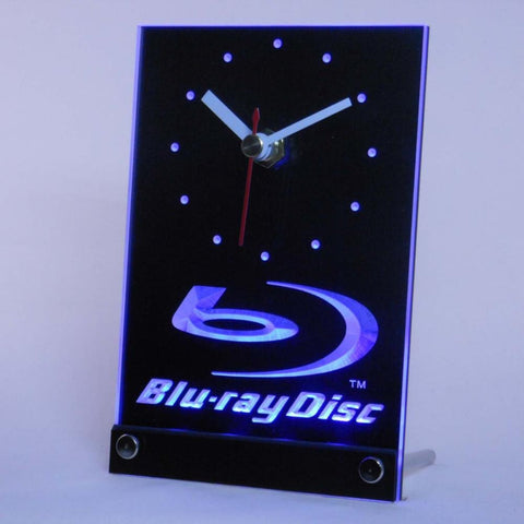 Blu-ray Disc Logo Table Desk 3D LED Clock