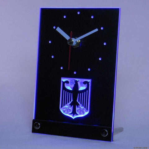 German Eagle Flag Table Desk 3D LED Clock -  - TheLedHeroes