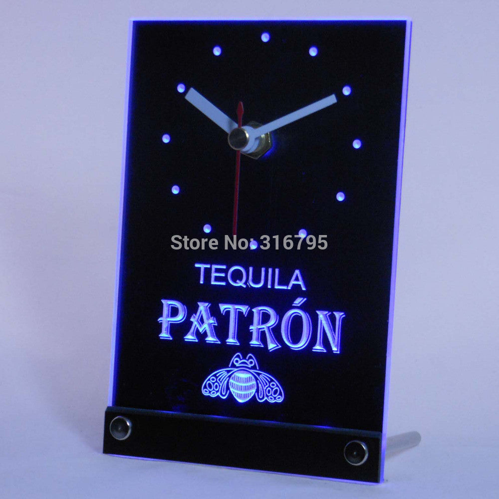 Tequila Patron Beer 3D LED Table Desk Clock -  - TheLedHeroes