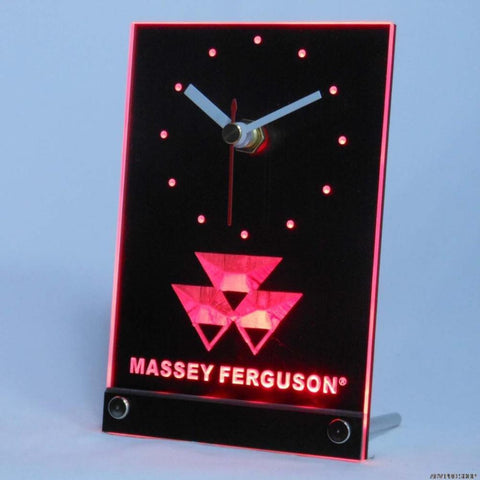 Massey Ferguson Tractor Table Desk 3D LED Clock - Red - TheLedHeroes