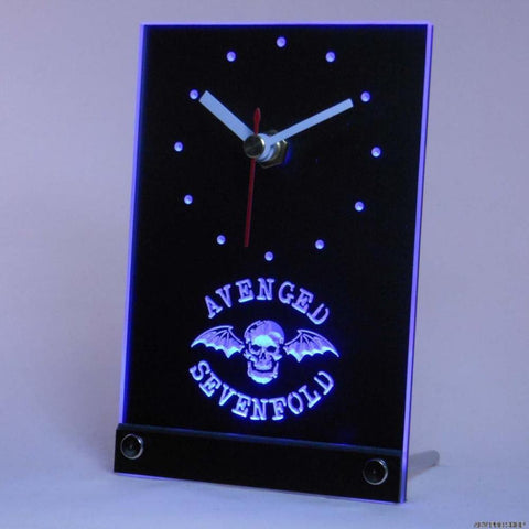 Avenged Sevenfold Band Bar Table Desk 3D LED Clock