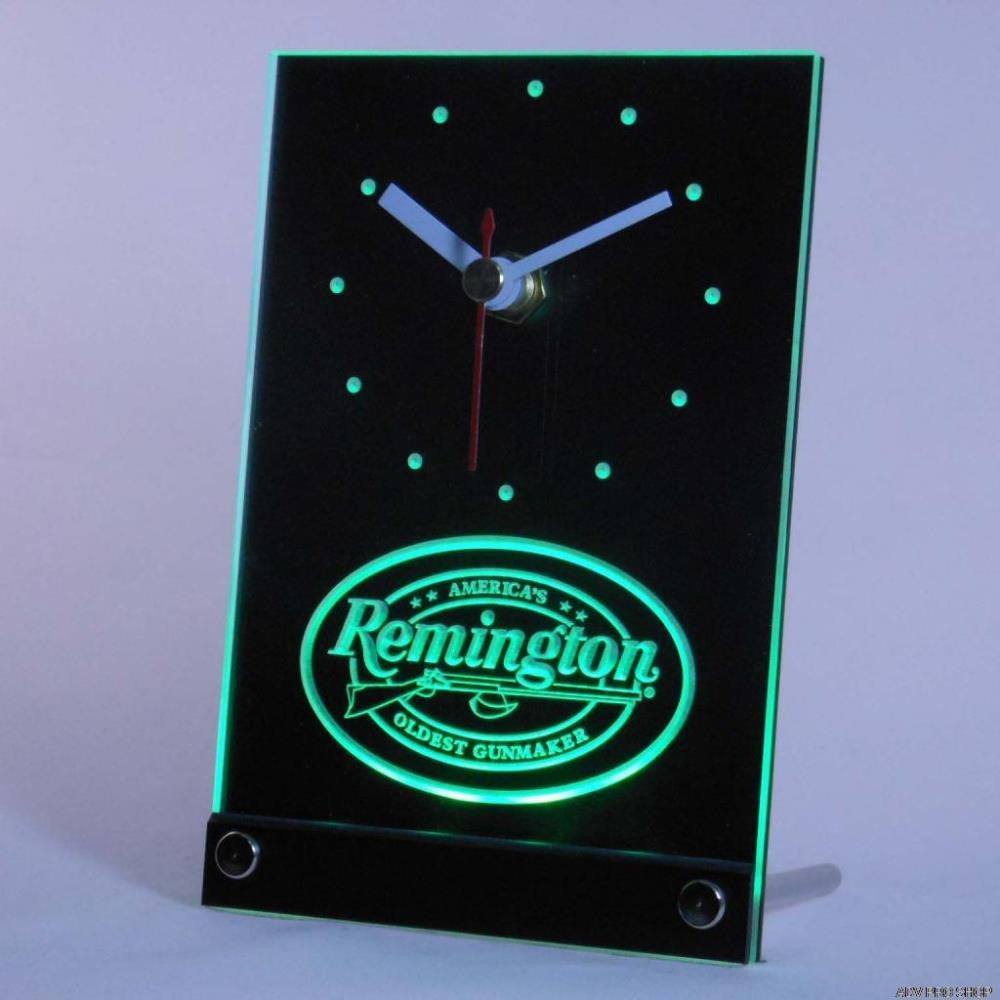 Remington Firearms Hunting Gun Table Desk 3D LED Clock -  - TheLedHeroes