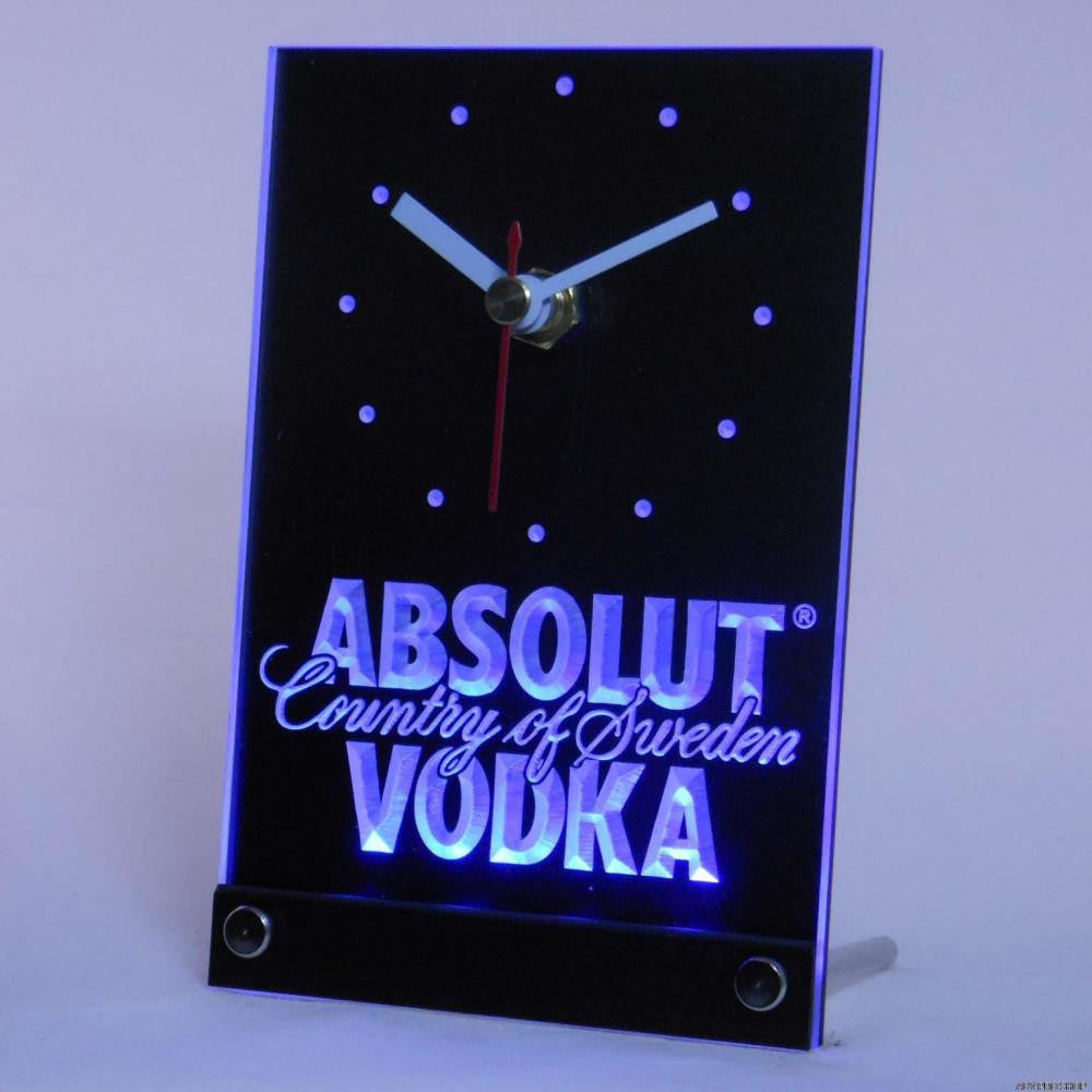 Absolut Vodka Sweden Bar 3D LED Table Desk Clock