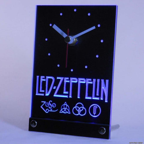 Led Zeppelin Rock n Roll Punk Table Desk 3D LED Clock