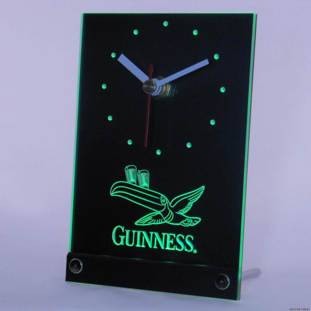 Guinness Toucan Beer 3D LED Table Desk Clock -  - TheLedHeroes