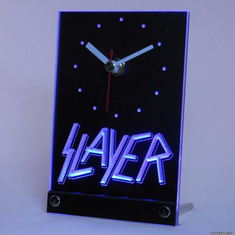 Slayer Bar Beer Table Desk 3D LED Clock -  - TheLedHeroes