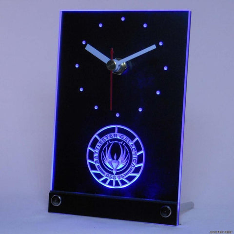 Battlestar Galactica Table Desk 3D LED Clock -  - TheLedHeroes