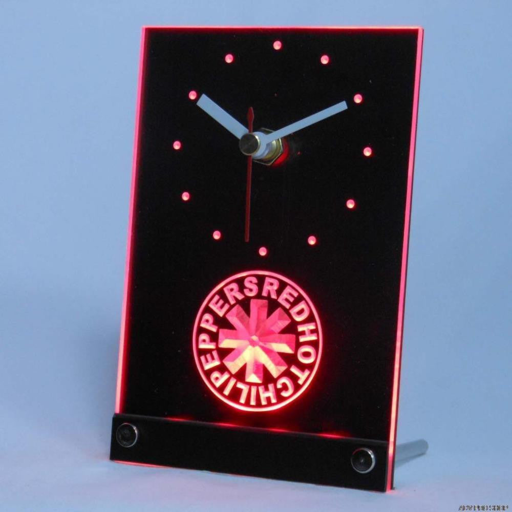 Red Hot Chili Peppers Rock Band Table Desk 3D LED Clock -  - TheLedHeroes