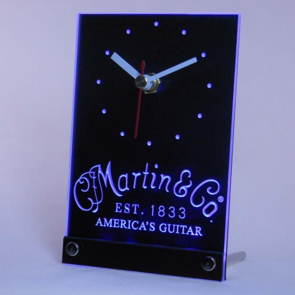 Martin Guitar Music Table Desk 3D LED Clock -  - TheLedHeroes