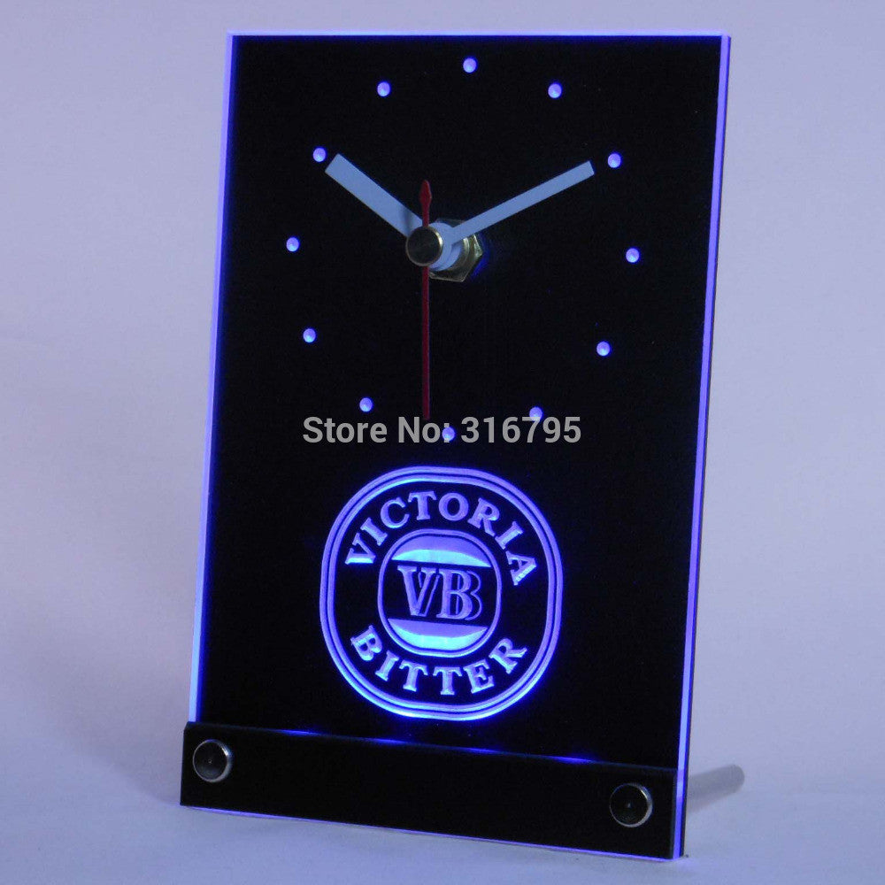 Victoria Bitter VB Beer 3D LED Table Desk Clock -  - TheLedHeroes