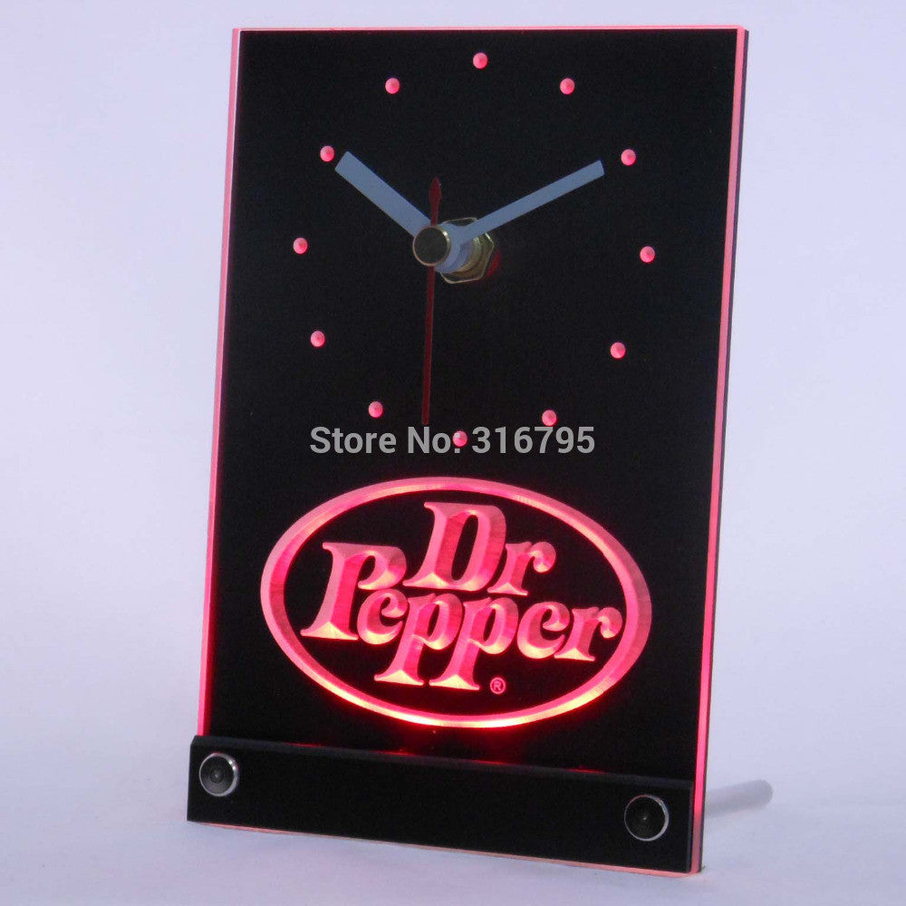 Dr Pepper Drink 3D LED Table Desk Clock -  - TheLedHeroes