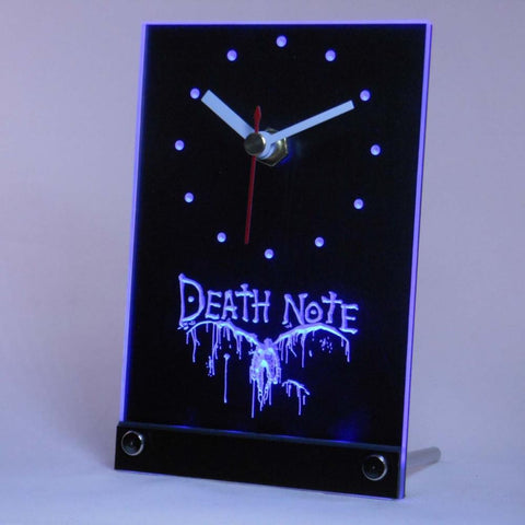 Death Note Notebook Cosplay Table Desk 3D LED Clock