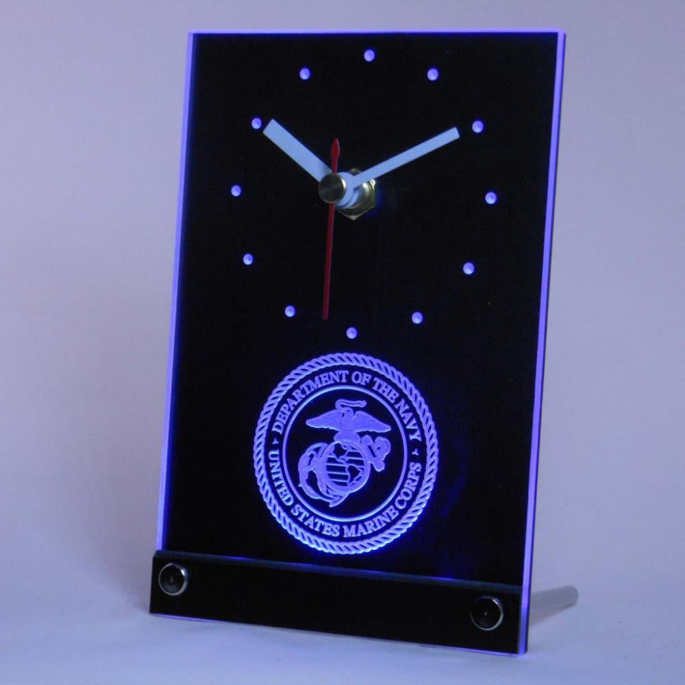 US Marine Corp Military Table Desk 3D LED Clock -  - TheLedHeroes