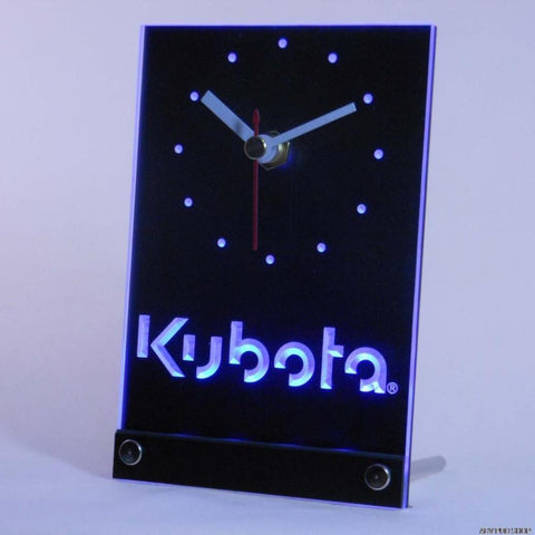 Kubota Tractor Table Desk 3D LED Clock -  - TheLedHeroes