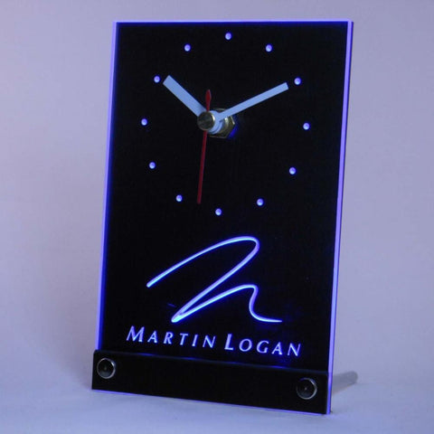 Martin Logan Speaker Audio Home Table Desk 3D LED Clock -  - TheLedHeroes