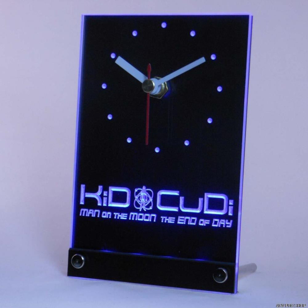 Kid Cudi Man On The Moon End of Day Table Desk 3D LED Clock -  - TheLedHeroes