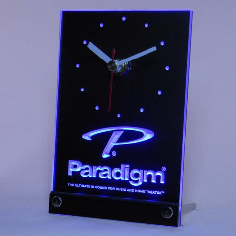Paradigm Speakers Home Theater Table Desk 3D LED Clock