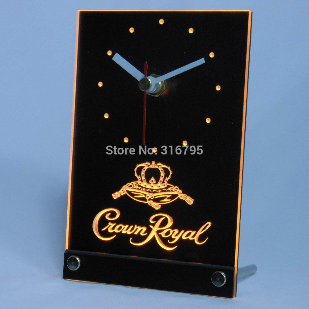 Crown Royal Beer 3D LED Table Desk Clock -  - TheLedHeroes