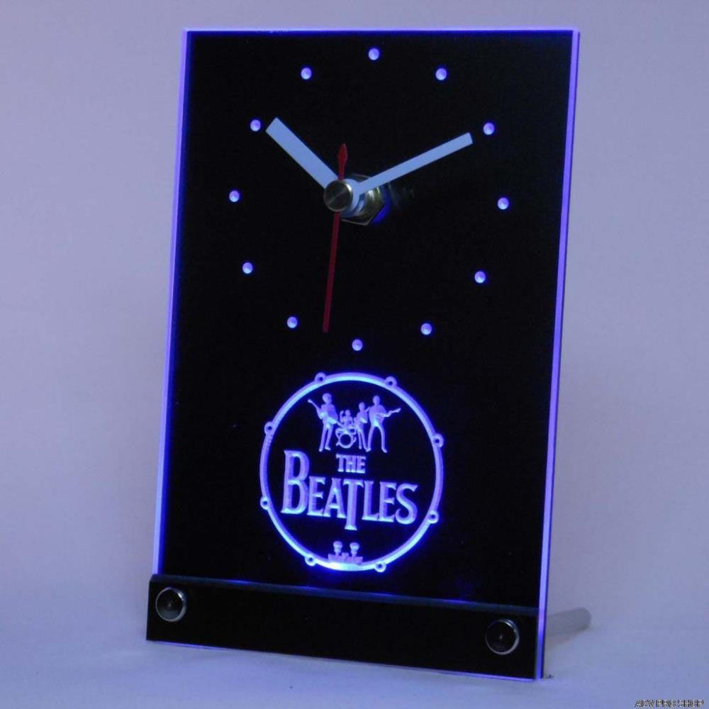 The Beatles Table Desk 3D LED Clock -  - TheLedHeroes