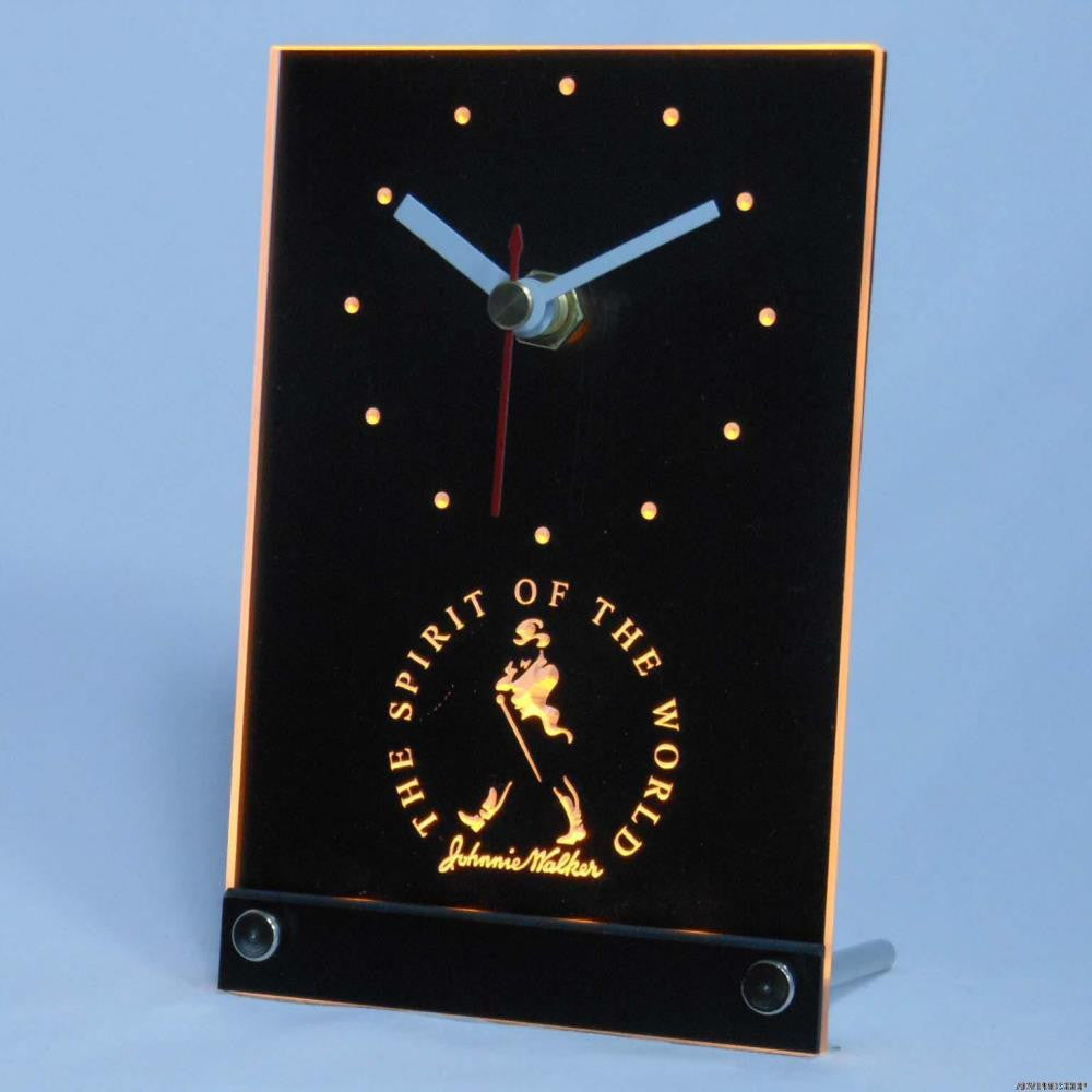 Johnnie Walker 3D LED Table Desk Clock -  - TheLedHeroes