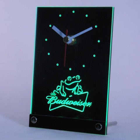 Budweiser Frog Beer Table Desk 3D LED Clock -  - TheLedHeroes