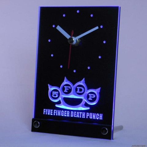 5FDP Five Finger Death Punch Table Desk 3D LED Clock