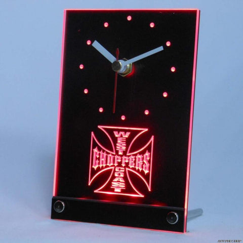 West Coast Choppers Bike Table Desk 3D LED Clock -  - TheLedHeroes