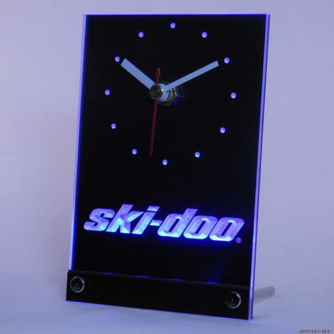 ski-doo Snowmobiles Table Desk 3D LED Clock -  - TheLedHeroes