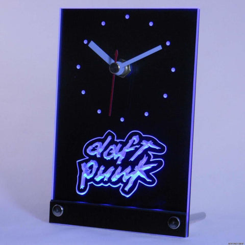 DAFT PUNK SCOTT GROOVES Table Desk 3D LED Clock -  - TheLedHeroes