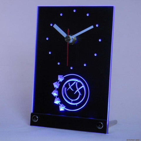 Blink 182 Punk Music Pub Bar Beer Table Desk 3D LED Clock