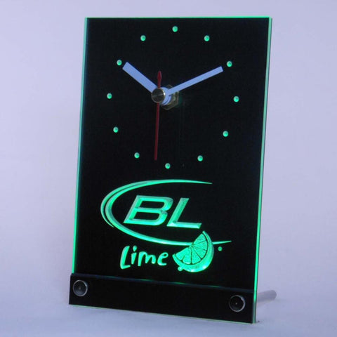 Bud Light Lime Beer Bar Table Desk 3D LED Clock -  - TheLedHeroes