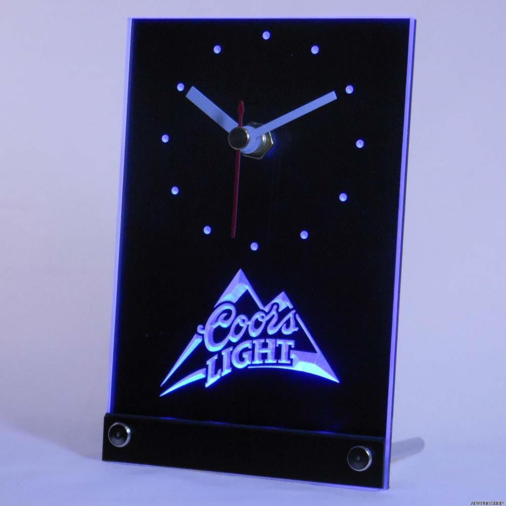 Coors Light Beer 3D LED Table Desk Clock -  - TheLedHeroes