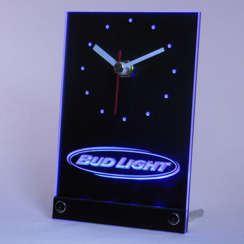 Bud Light Beer Table Desk 3D LED Clock -  - TheLedHeroes