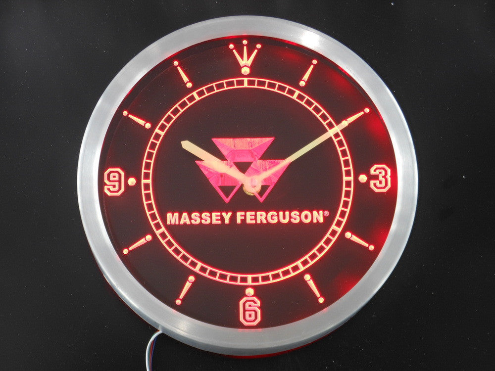 Massey Ferguson Tractor LED Wall Clock -  - TheLedHeroes