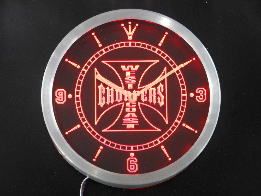 West Coast Choppers Bike LED Wall Clock -  - TheLedHeroes