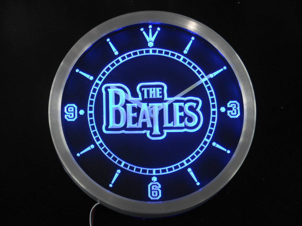 The Beatles Band Bar Beer LED Wall Clock -  - TheLedHeroes