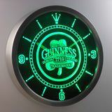 Guinness 1759 Shamrock Bar Beer LED Wall Clock