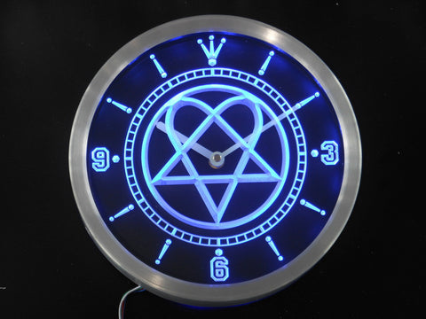 Him Heartagram Logo Band LED Wall Clock -  - TheLedHeroes
