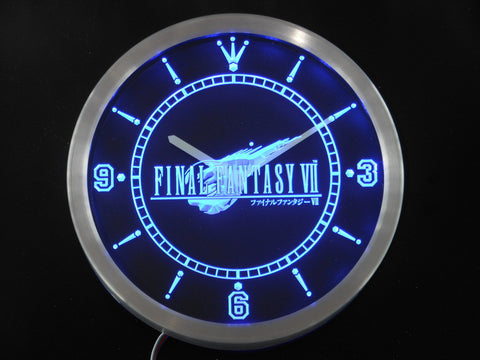 Final Fantasy VII FF7 LED Wall Clock