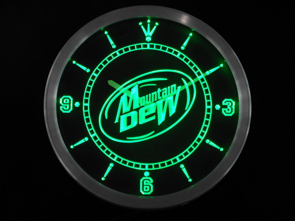 Mountain Dew Energy Drink LED Wall Clock -  - TheLedHeroes