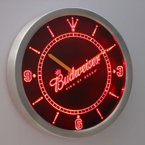 Budweiser Beer LED Wall Clock -  - TheLedHeroes